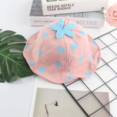 Детская хлопковая шляпа от солнца Princess heart pink