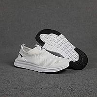 Текстильные летние женские кроссовки Adidas белые   лёгкая сетка + пена   очень лёгкие, фото 1