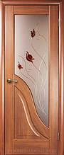 Амата+стеклоР1 -Золоткая Ольха - 80см. Коллекция МАЭСТРА. Межкомнатные двери Новый Стил