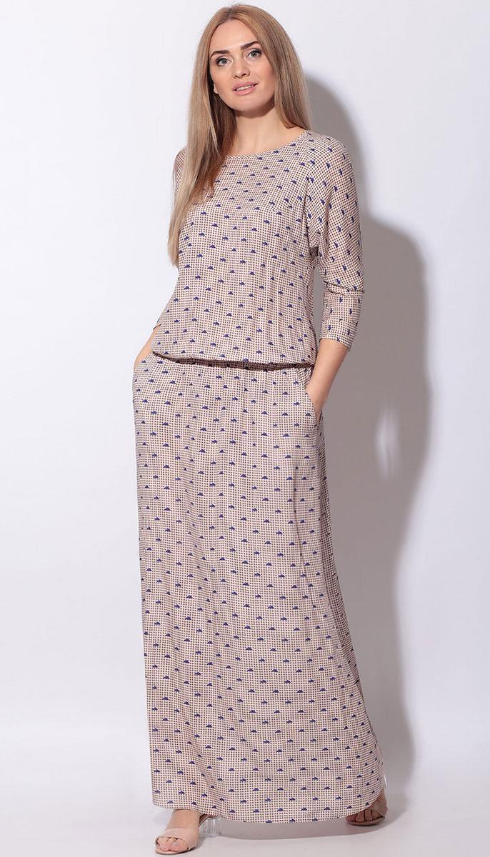 Сукня LeNata-11130 білоруський трикотаж, пудра, 44