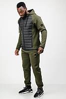 Спортивный костюм мужской теплый зимний c капюшоном хаки