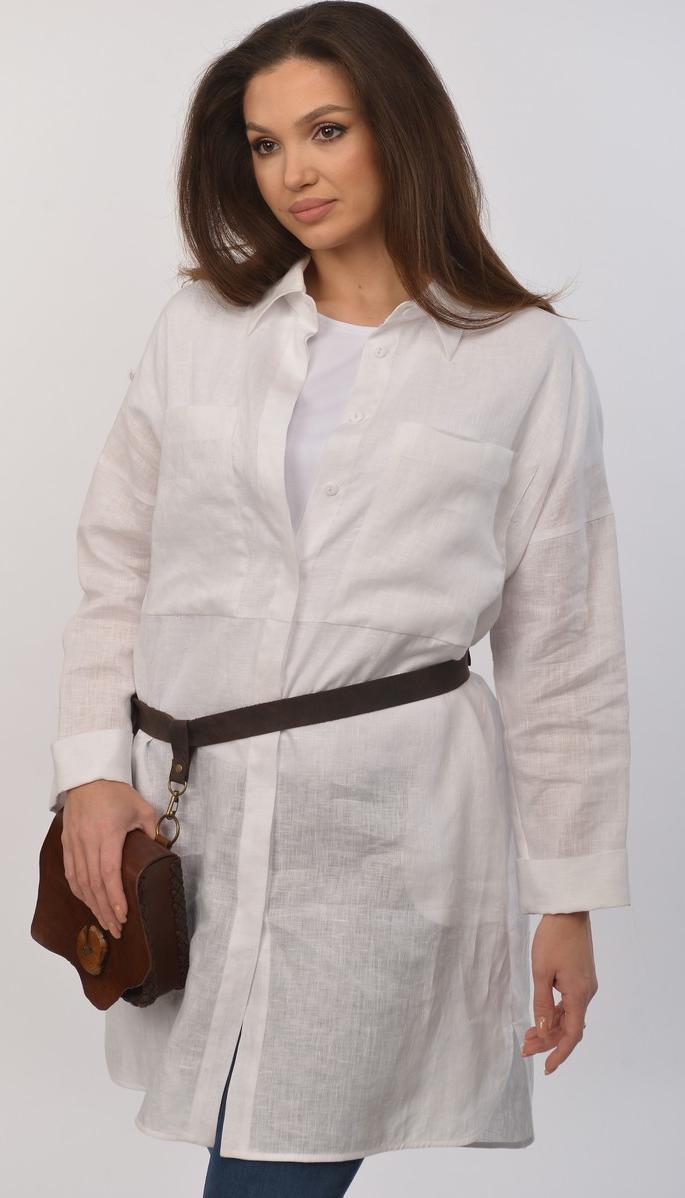 Сорочка Mali-621-004 білоруський трикотаж, білий, 48