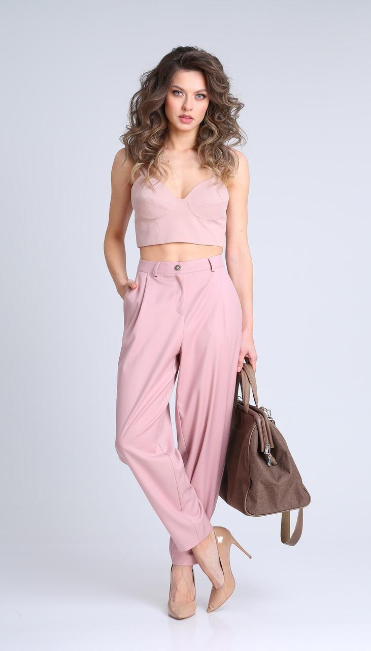 Блузка Sandyna-13923/1 білоруський трикотаж, ніжно-рожевий, 44