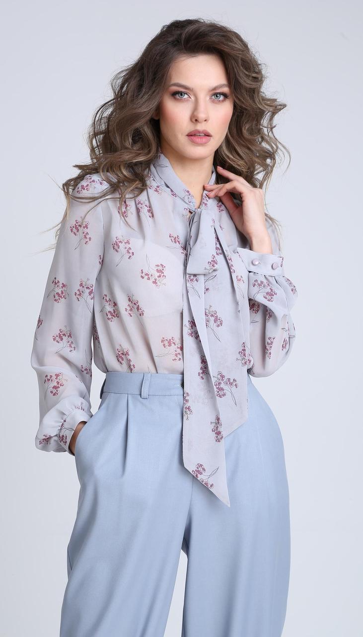Блузка Sandyna-13928 белорусский трикотаж, лавандовый, 44
