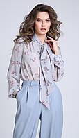 Блузка Sandyna-13928 белорусский трикотаж, лавандовый, 44, фото 1