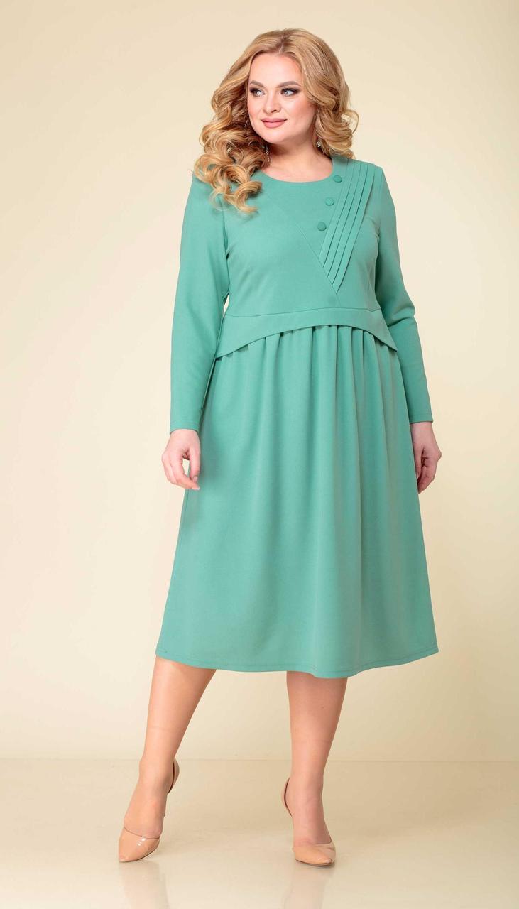 Сукня Асолия-2525 білоруський трикотаж, м'ята, 52