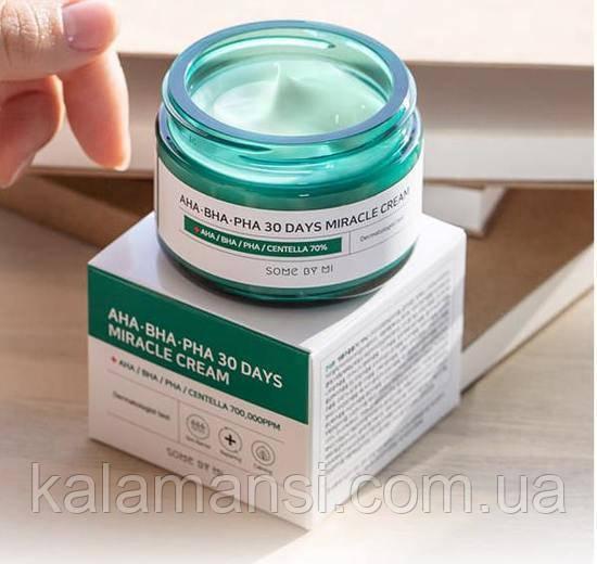 Відновлюючий крем для проблемної шкіри By Some Mi AHA BHA PHA 30 Days Miracle Cream 60 мл