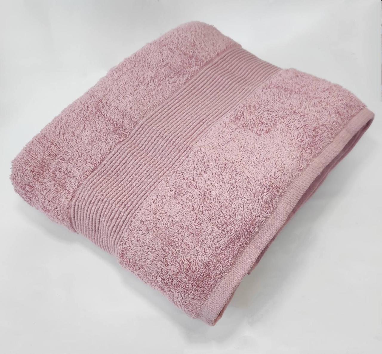Рушник Cottonize 100х150 однотонне 912 Брудна-троянда