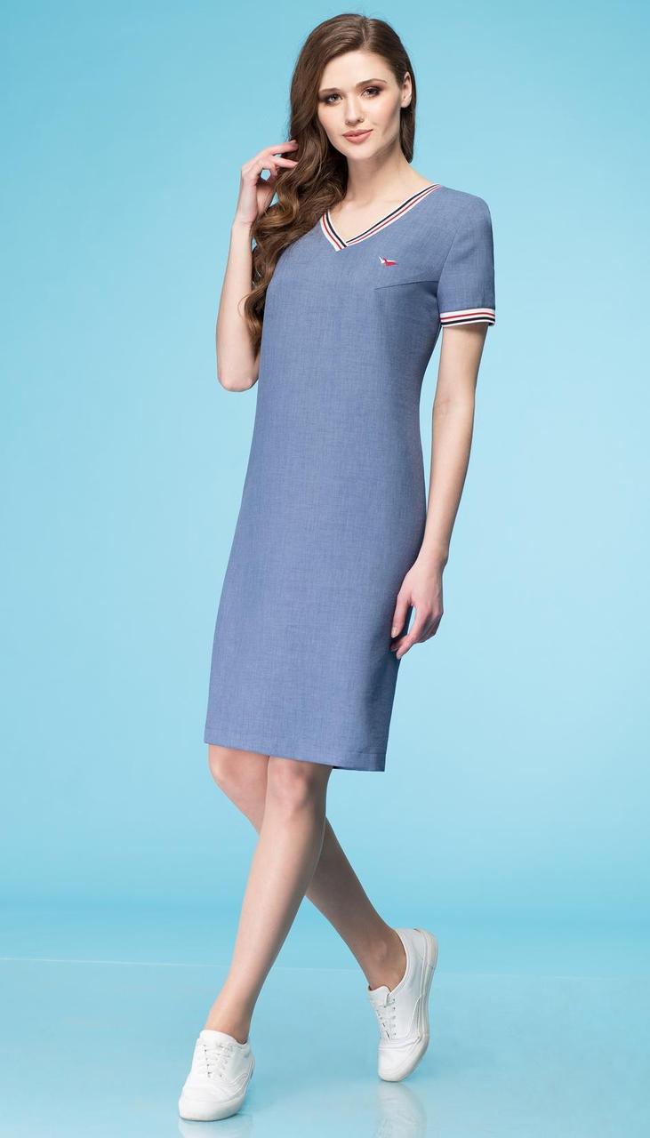 Сукня Лінія-Л-Б-1638 білоруський трикотаж, блакитний, 48