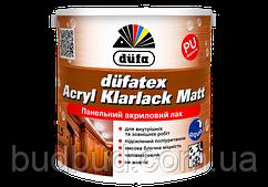 Лак панельный матовый Dufatex Acryl Klarlack Dufa 0.75 л