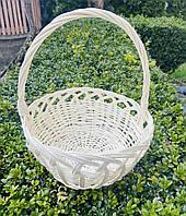 Великодній кошик плетений з лози білий 21х21х25
