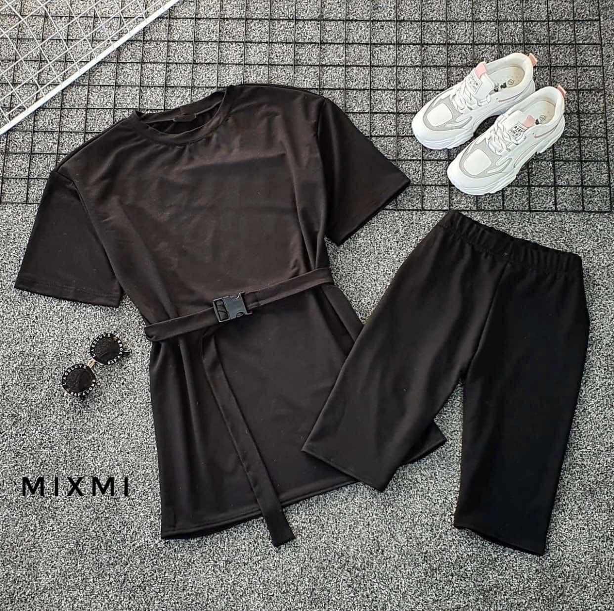 Женский костюм, двунить, р-р 42-44; 44-46 (чёрный)