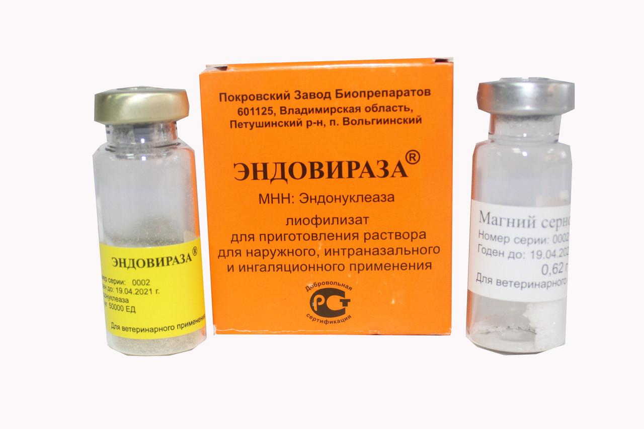 Эндовираза (Эндоглюкин) (1уп.-2фл.) — чистый магний и эндонуклеаза
