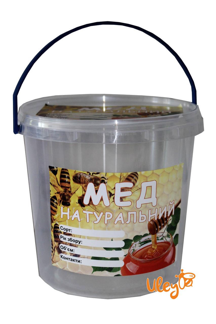 Етикетка «Мед натуральний», прямокутна 7х10 см (самоклейка) — 1шт.