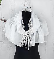 Легкий платок для венчания и крестин Виола 110*75 см белый 2