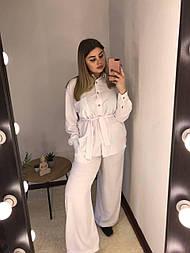 Женский летний костюм 48/50, белый