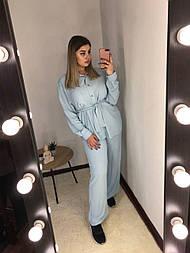 Женский летний костюм 48/50, голубой