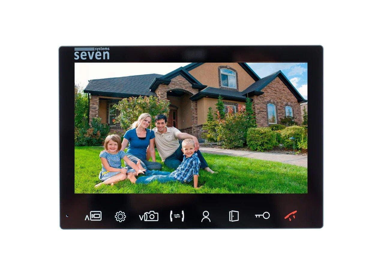 Відеодомофон SEVEN DP–7575 FHD IPS Чорний