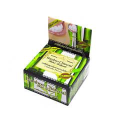 Круглая Зубная паста с углем бамбука (Wonder charcoal toothpaste, Siam Nature), 25 грамм