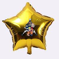 """Куля гелієвий """"Наруто"""" у формі Зірки , з наклейкою Герої Наруто (поштучно) на Мінському масиві"""
