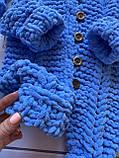 Детский вязаный мягкий плюшевый комбинезон из гипоаллергенной пряжи для мальчика ручной работы., фото 2