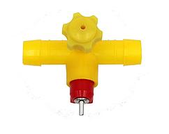 Ниппельная поилка для перепелов, цыплят и бройлеров для шланга 14 мм