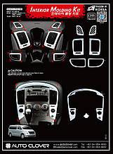 Хром накладки салона Hyundai Grand Starex 2007-2014 (Autoclover C355)