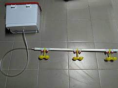 Комплект ниппельного поения на 40 голов с бачком Ниппельные поилки