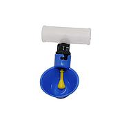 Чашечная поилка для кур с соединителем для трубы 25 мм