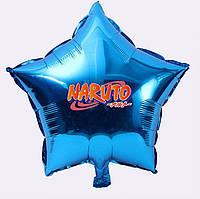 """Куля гелієвий """"Наруто"""" у формі Зірки , з наклейкою Лого Наруто (поштучно) на Мінському масиві"""