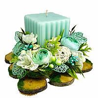 Свічка Великодня декорована 15x15x10 см