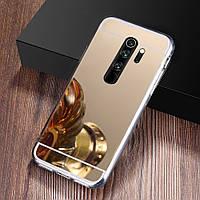 Чехол Fiji Mirror для Oppo A5 2020 силикон зеркальный бампер золотой