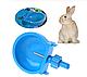 Поїлка чашкова для кроликів пластикова. Ниппельная поїлка для кролика, фото 5