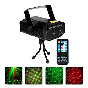Лазерний проектор EKOOT AY-01 світломузика стрибаючі точки пульт ДУ КОД: 5204-15734
