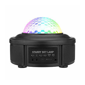 Лазерний проектор Lesko YSH016 Bluetooth LED диско куля КОД: 5198-15695