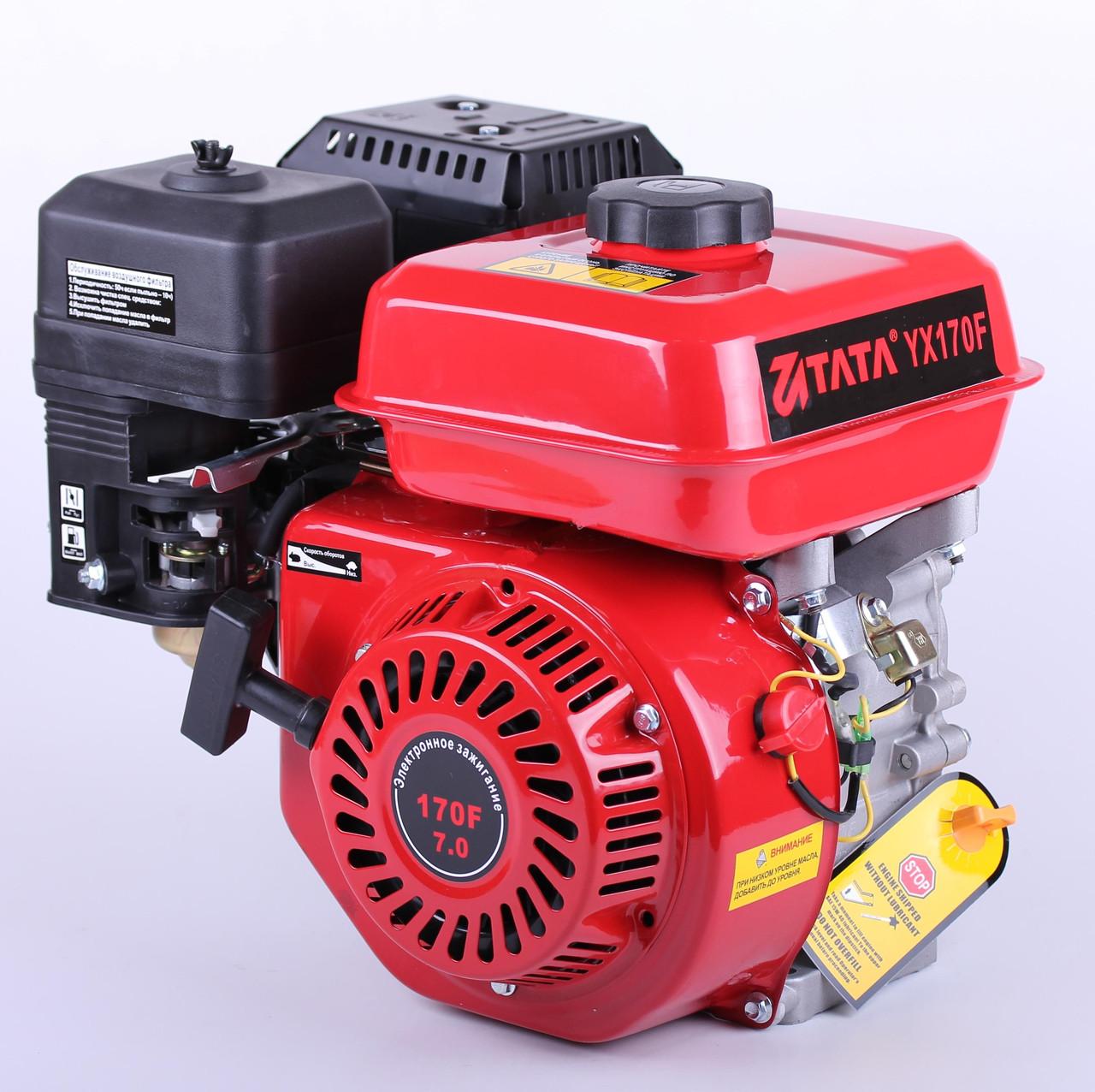 Двигатель бензиновый TATA 170F (с понижающим редуктором 1/2, 7 л.с.)
