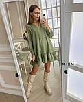 Жіноче плаття, костюмка люкс, р-р універсальний 42-46 (оливка), фото 2