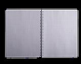 Блокнот А4 80л, FAVOURITE, PASTEL клетка, пружина сбоку, пластик, фото 4