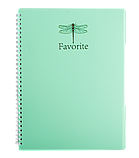 Блокнот А4 80л, FAVOURITE, PASTEL клетка, пружина сбоку, пластик, фото 2