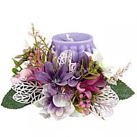 Свічка Великодня декорована 10x10x7 см