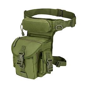 Сумка тактична на стегно AOKALI Outdoor A90 Green КОД: 5358-16933