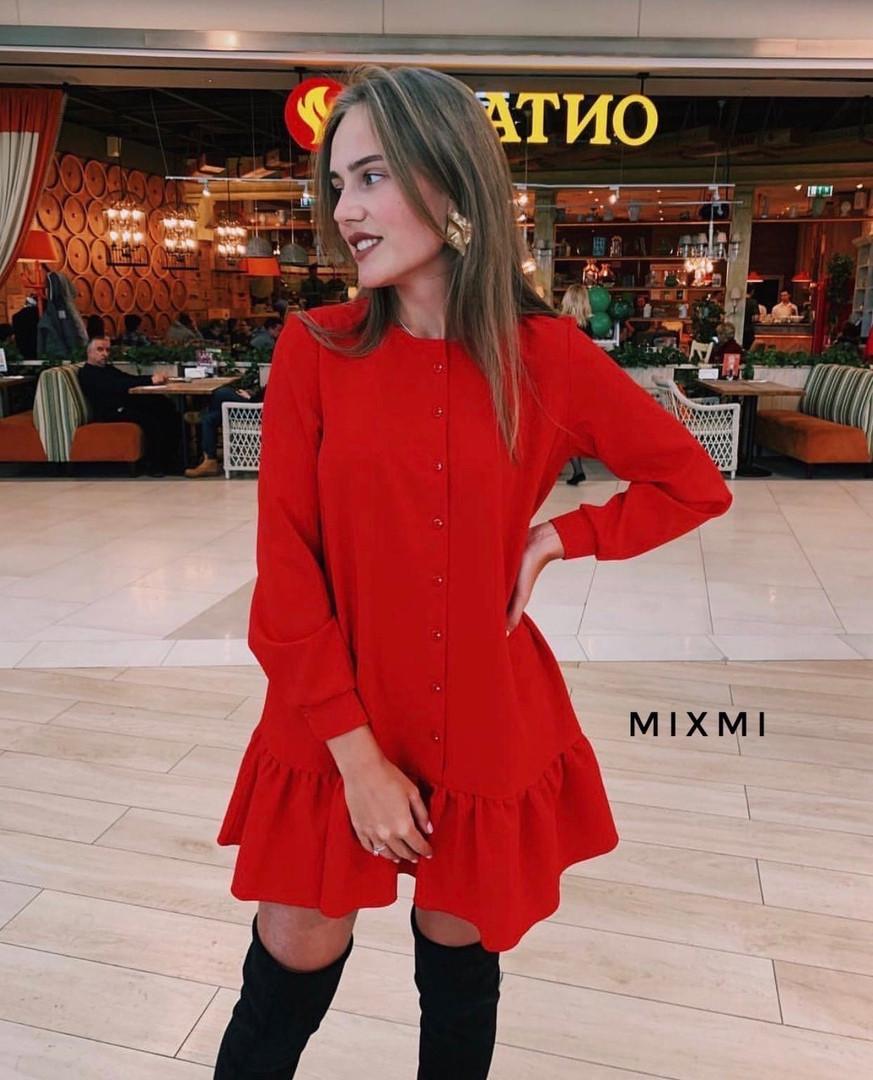 Жіноче плаття, костюмка люкс, р-р універсальний 42-46 (червоний)