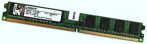 Оперативная память Kingston DDR2 1Gb 400MHz PC2 3200U CL3 (KTD-DM8400/1G) Low Profile Б/У
