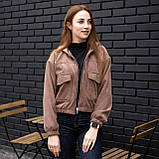 Куртка жіноча Манірна Meri коричнева, фото 2