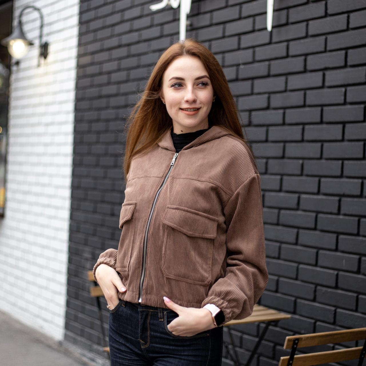 Куртка жіноча Манірна Meri коричнева