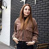 Куртка жіноча Манірна Meri коричнева, фото 3