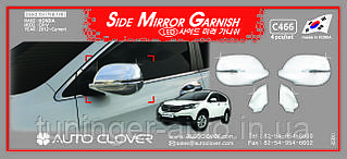 Хром накладки на зеркала Honda CR-V 2012-2017 (Autoclover C466)