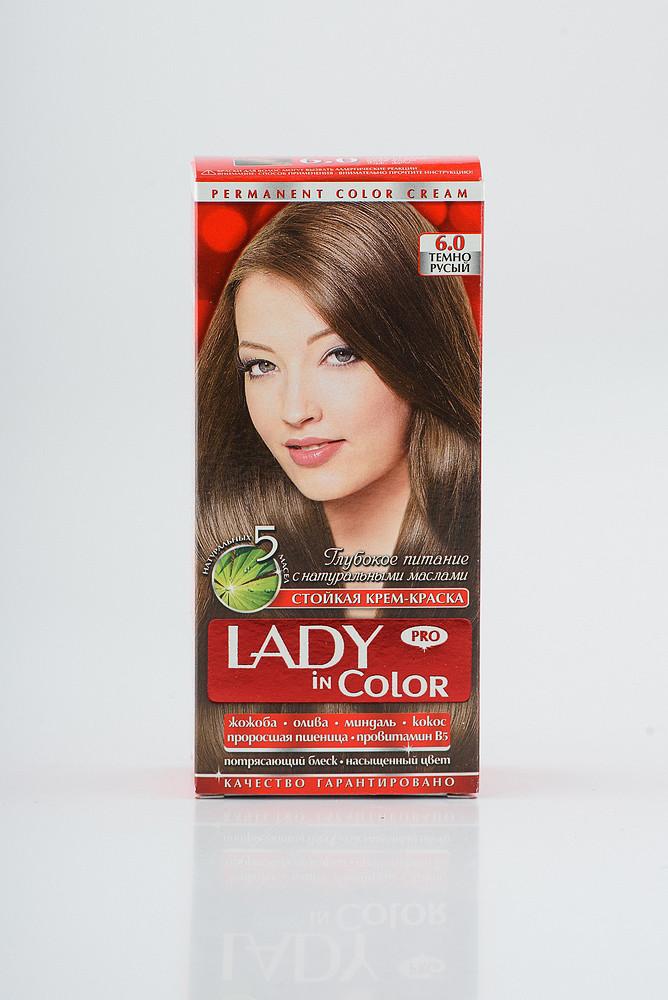 Lady in color фарба для волосся №6.0 Темно - русий
