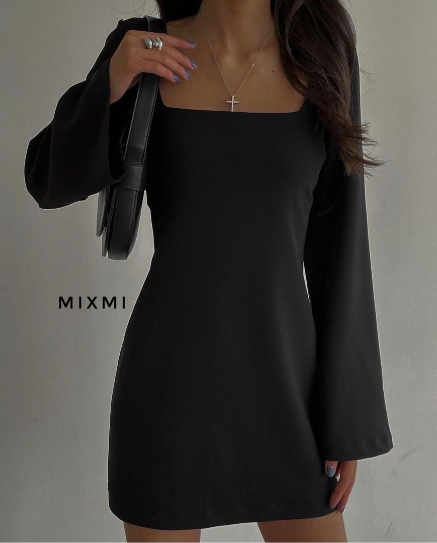 Женское платье, костюмка люкс, р-р 42-44; 44-46 (чёрный)
