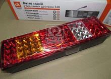 Ліхтар МАЗ, КАМАЗ (ЄВРО) задній лівий з бічним розташуванням роз'єму LED 24В | Дорожня карта